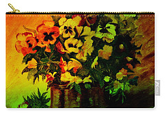Pansies In The Vase Carry-all Pouch