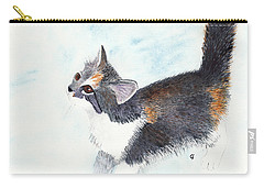 Calico Barn Cat Watercolor Carry-all Pouch