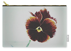 Carry-all Pouch featuring the photograph Pansy Face by Karen Stahlros