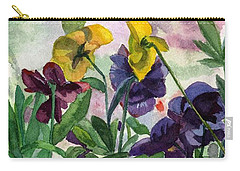 Pansy Field Carry-all Pouch
