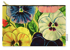 Pansy Flowers Print Carry-all Pouch