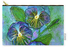 Pansy On Water Carry-all Pouch