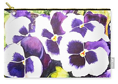 Pansy Party Carry-all Pouch