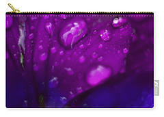 Pansy Rain Macro Carry-all Pouch