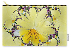 Pansy Swirls Carry-all Pouch