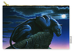 Panther On Rock Carry-all Pouch by MGL Studio - Chris Hiett