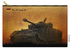 Carry-all Pouch featuring the digital art Panzer 4 Ausf H by John Wills