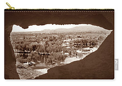 Carry-all Pouch featuring the photograph Papago Park Rock Window 1950s by Marilyn Hunt