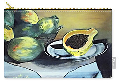 Papaya Still Life Carry-all Pouch by Francine Heykoop