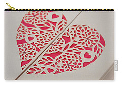 Paper Cut Heart Carry-all Pouch