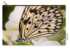 Paper Kite On White Carry-all Pouch