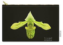 Carry-all Pouch featuring the photograph Paphiopedilum Venustum Closeup by Susan Wiedmann