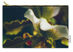 Carry-all Pouch featuring the photograph Paphiopedilum Villosum Orchid Lady Slipper by Sharon Mau