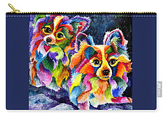 Papillion Pair Carry-all Pouch