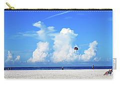 Carry-all Pouch featuring the photograph Para Sailing On Siesta Key by Gary Wonning