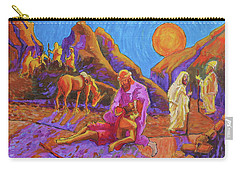 Parables Of Jesus Parable Of The Good Samaritan Painting Bertram Poole Carry-all Pouch by Thomas Bertram POOLE