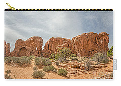 Carry-all Pouch featuring the photograph Parade Of Elephants by Sue Smith