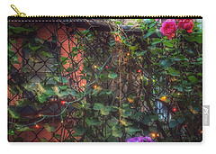 Carry-all Pouch featuring the photograph Paradise By The Backyard Gate - City Garden by Miriam Danar