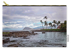 Carry-all Pouch featuring the photograph Paradise Cove Lagoon by Heather Applegate