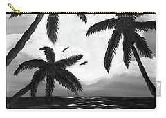Paradise In Black And White Carry-all Pouch by Teresa Wing