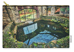 Carry-all Pouch featuring the photograph Paradise Springs- Spring House - Kettle Moraine State Forest by Jennifer Rondinelli Reilly - Fine Art Photography