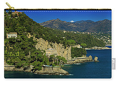 Paraggi Bay Castle And Liguria Mountains Portofino Park  Carry-all Pouch