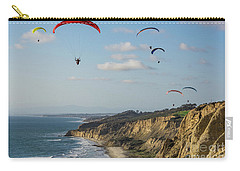 Paragliders At Torrey Pines Gliderport Over Black's Beach Carry-all Pouch