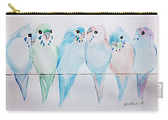 Parakeets Carry-all Pouch by Edwin Alverio