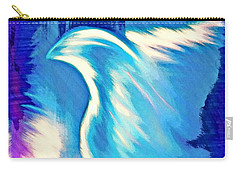 Carry-all Pouch featuring the digital art Parakletos by Jessica Eli