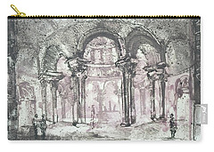 Carry-all Pouch featuring the painting Paraphrase After Giovanni Piranesi Tomb Of Costanza by Martin Stankewitz