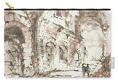Carry-all Pouch featuring the painting Paraphrase After Piranesi by Martin Stankewitz