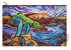 Carry-all Pouch featuring the painting Paratawhiti At Oruru River by Dianne  Connolly