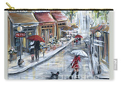 Poodle In Paris Carry-all Pouch by Marilyn Dunlap