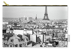 Paris And The Eiffel Tower From Printemps Rooftop  Carry-all Pouch by D Renee Wilson
