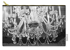 Paris Black And White Crystal Chandeliers - French Parisian Black White Crystal Chandelier Art Carry-all Pouch