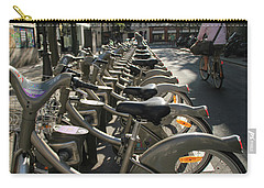 Carry-all Pouch featuring the photograph Paris By Bike by Yoel Koskas
