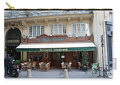 Carry-all Pouch featuring the photograph Paris Cafe Bistro - Galerie Vivienne - Paris Cafes Bistro Restaurant-paris Cafe Galerie Vivienne by Kathy Fornal