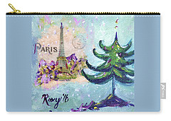 Paris Christmas Carry-all Pouch