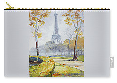Paris Eiffel Tower From Trocadero Park Carry-all Pouch