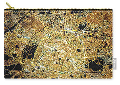 Paris From Space Carry-all Pouch by Delphimages Photo Creations