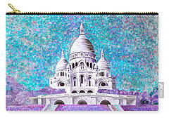 Carry-all Pouch featuring the mixed media Paris II by Elizabeth Lock