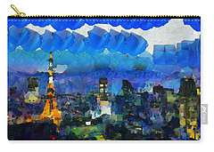 Paris Inside Tokyo Carry-all Pouch by Sir Josef - Social Critic -  Maha Art