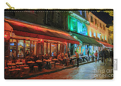 Carry-all Pouch featuring the painting Paris Night by Chris Armytage