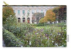 Carry-all Pouch featuring the photograph Paris Palais Royal Gardens - Paris Autumn Fall Gardens Palais Royal Rose Garden - Paris In Bloom by Kathy Fornal