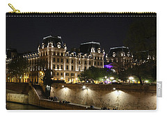 Carry-all Pouch featuring the photograph Paris Police Headquarters by Andrew Fare