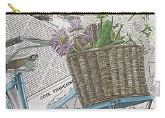 Paris Ride 1 Carry-all Pouch by Debbie DeWitt