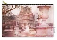 Paris Tuileries Park Garden - Jardin Des Tuileries Garden - Paris Tuileries Louvre Garden Sculpture Carry-all Pouch by Kathy Fornal