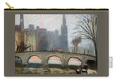 Carry-all Pouch featuring the painting Parisian Gray by Gary Coleman