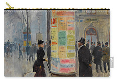 Carry-all Pouch featuring the photograph Parisian Street Scene by John Stephens