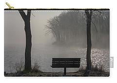 Park Bench In Morning Fog Carry-all Pouch